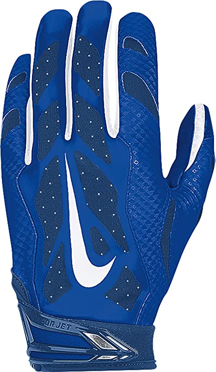 big sale ea6af 9fa43 Amazon.com   Men s Nike Vapor Jet 3.0 Football Gloves Game Royal Gym  Blue Black White Size X-Large   Sports   Outdoors