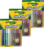 Crayola Bold Color Glitter Glue, 9-Count (Pack of 3)