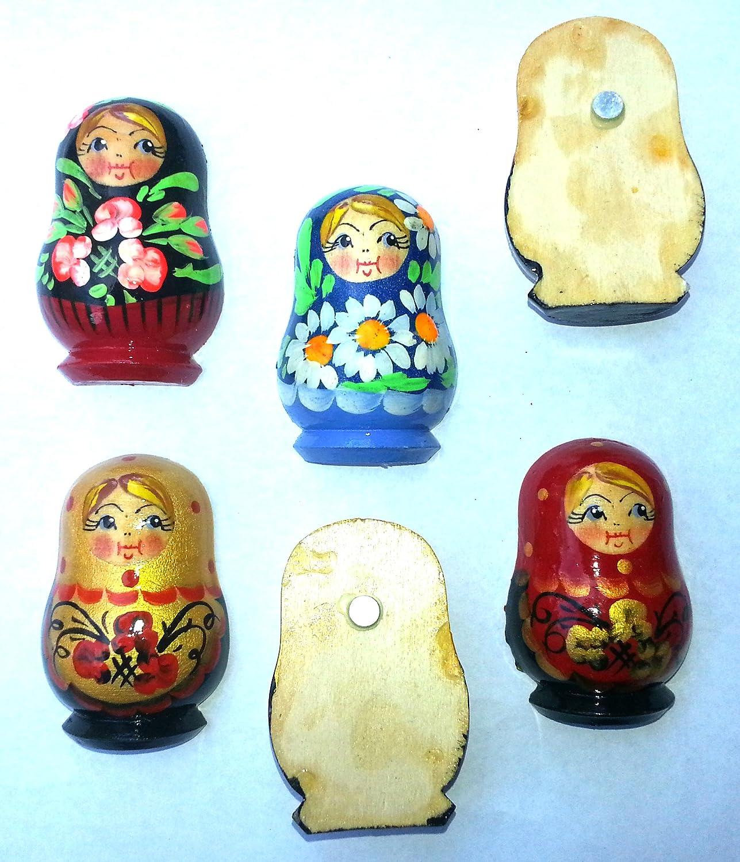 Amazon.com: Imán ruso Nesting Matryoshka muñecas de madera ...