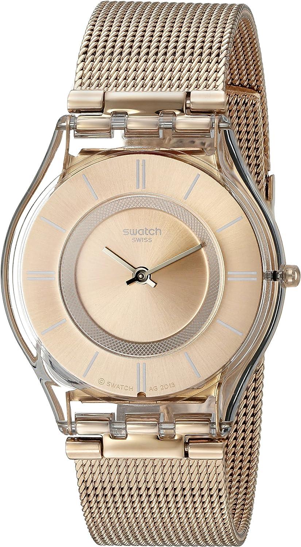 Swatch Reloj Digital de Cuarzo Unisex con Correa de Acero Inoxidable – SFP115M