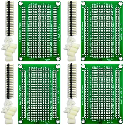 Electronics-Salon 4X Solderable Breadboard Proto Board PCB DIY Kit for Raspberry Pi 2/3 Model A B A+ B+ Zero: Toys & Games
