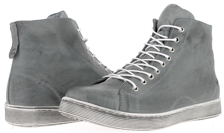 Andrea Conti 0341500 High Schuhe Damen Halbschuhe Sneaker High 0341500 Top Grau 4fbbf5