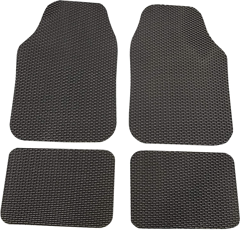 Civic CR-V e Accord HR-V Xtremeauto Carbon Bubble Effect Rubber Non-Slip Car Floor Mats Jazz