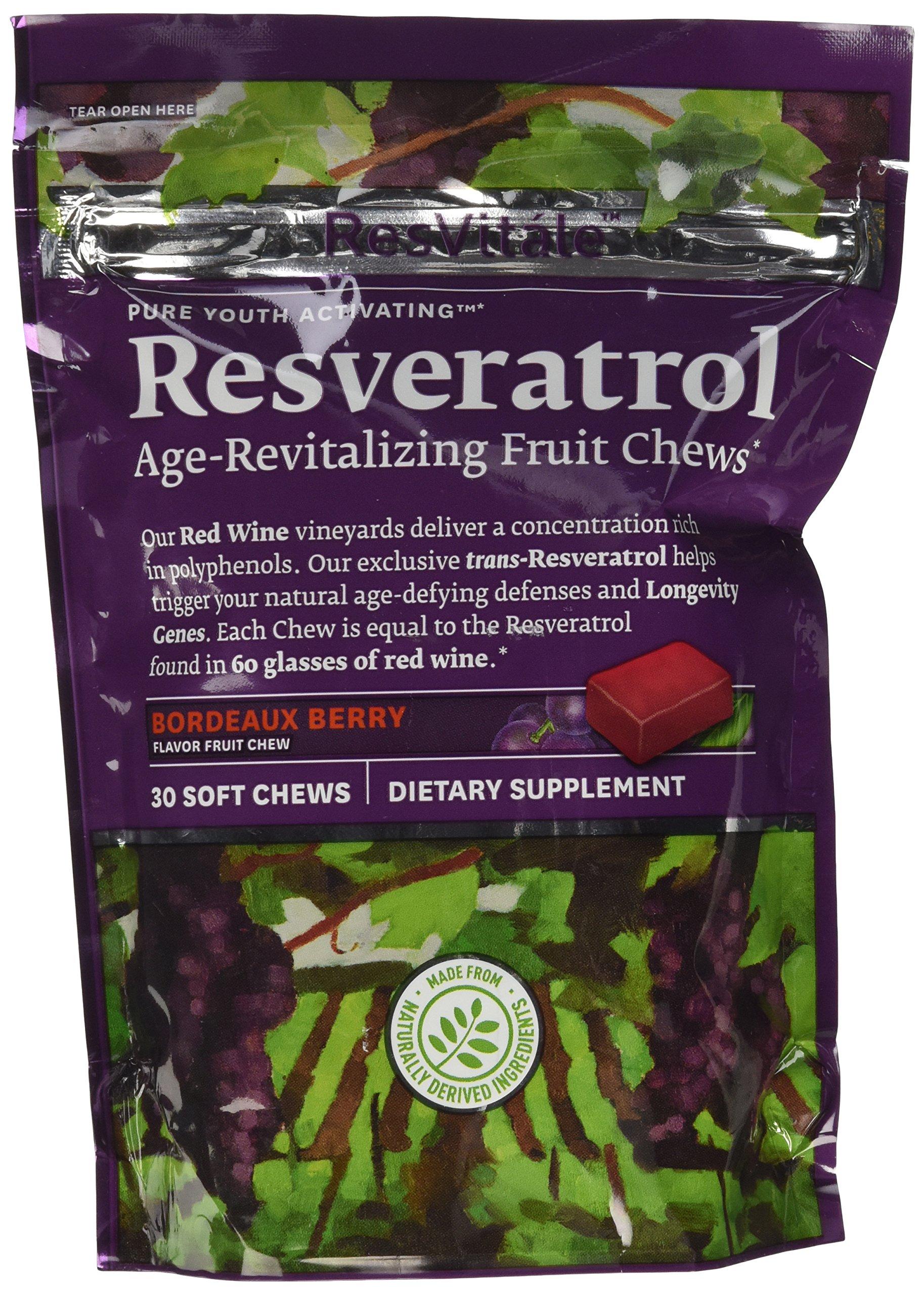 ResVitale Resveratrol - Bordeaux Berry 30 Chews by ResVitáleTM