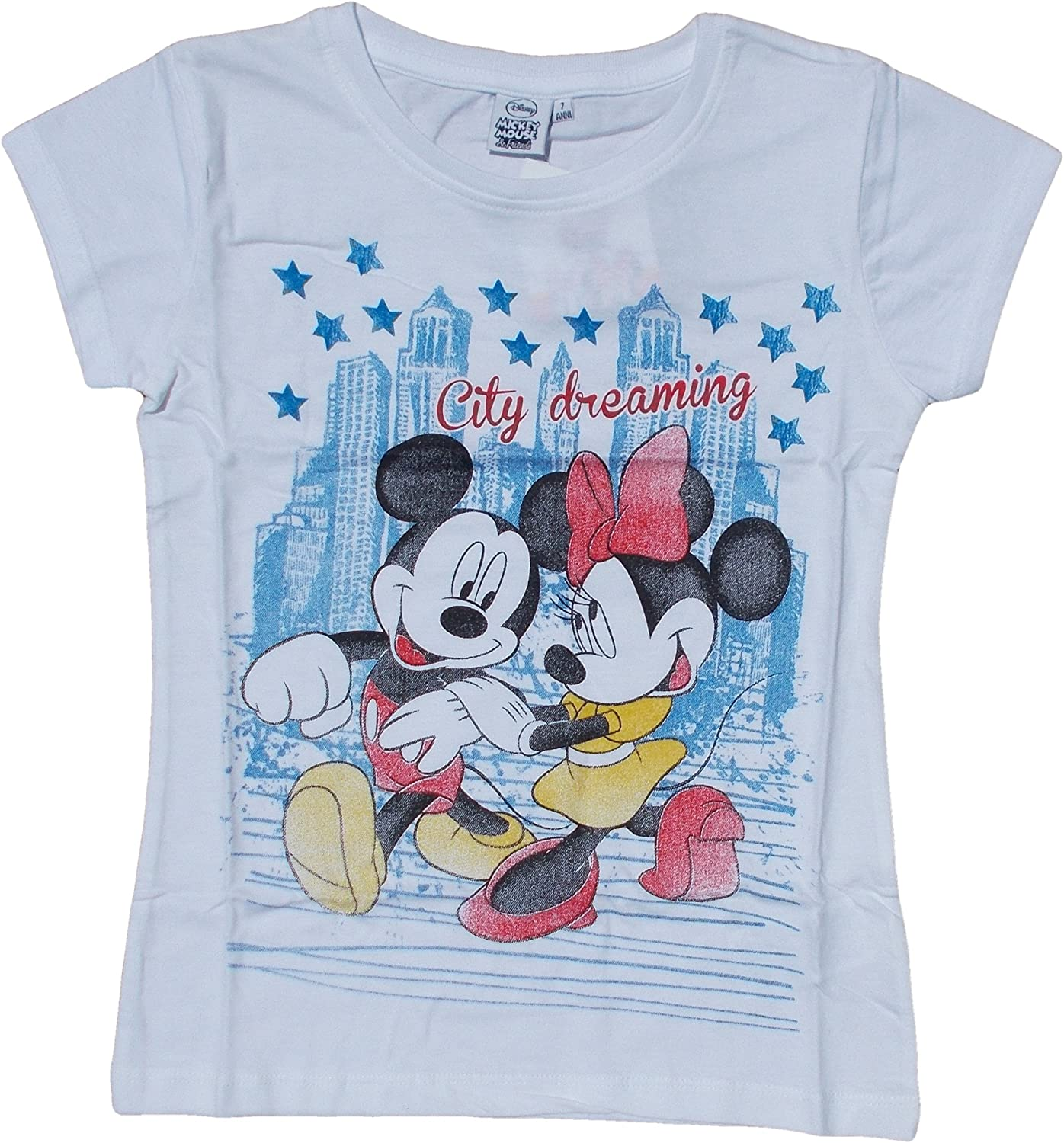 3942CITY T-SHIRT Maglietta MINNIE E TOPOLINO MICKEY MOUSE DISNEY TAGLIE 3//7 ANNI