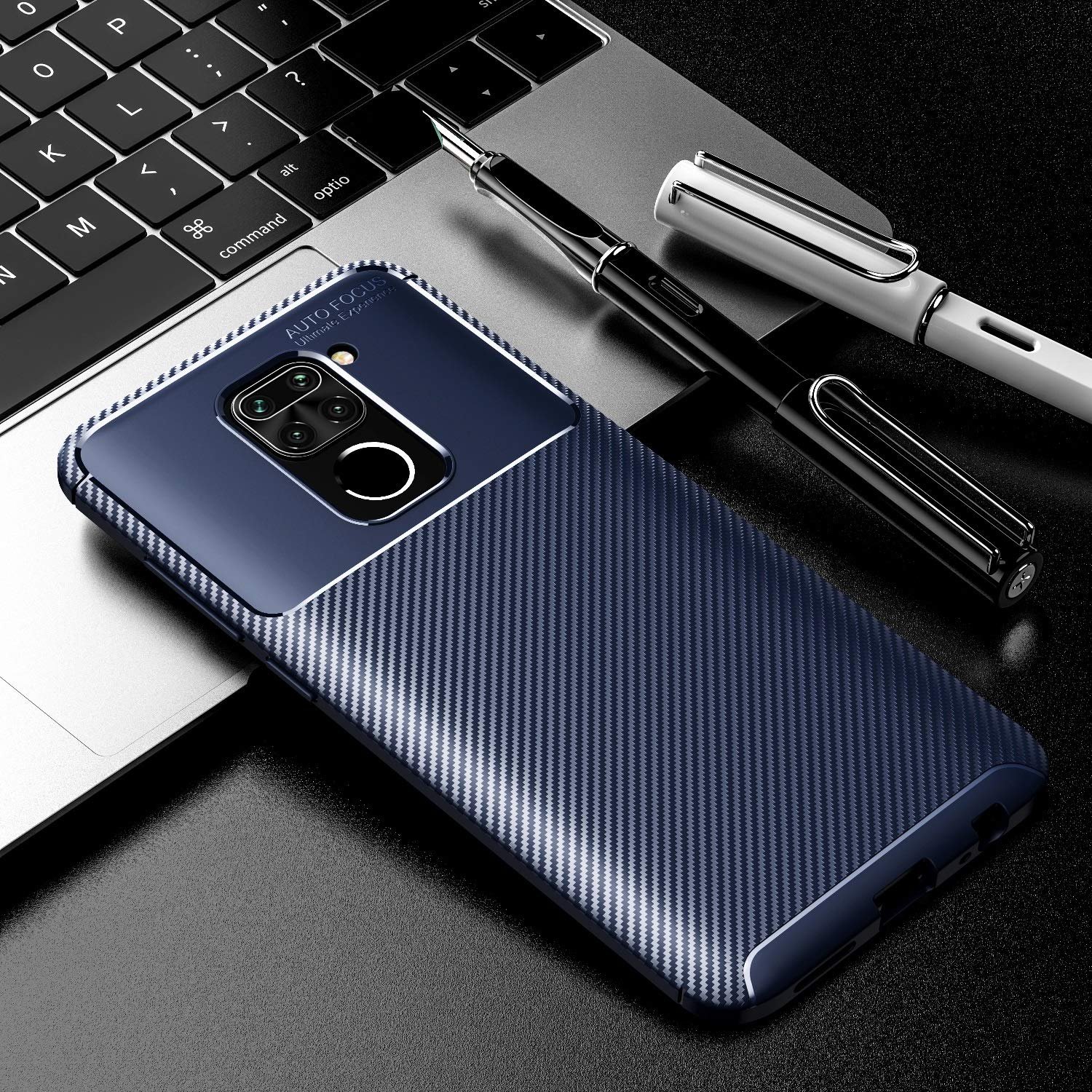 A.S Platinum Carbon Fiber ShockProof Rugged Armor Slim Drop Tested Back Case Cover
