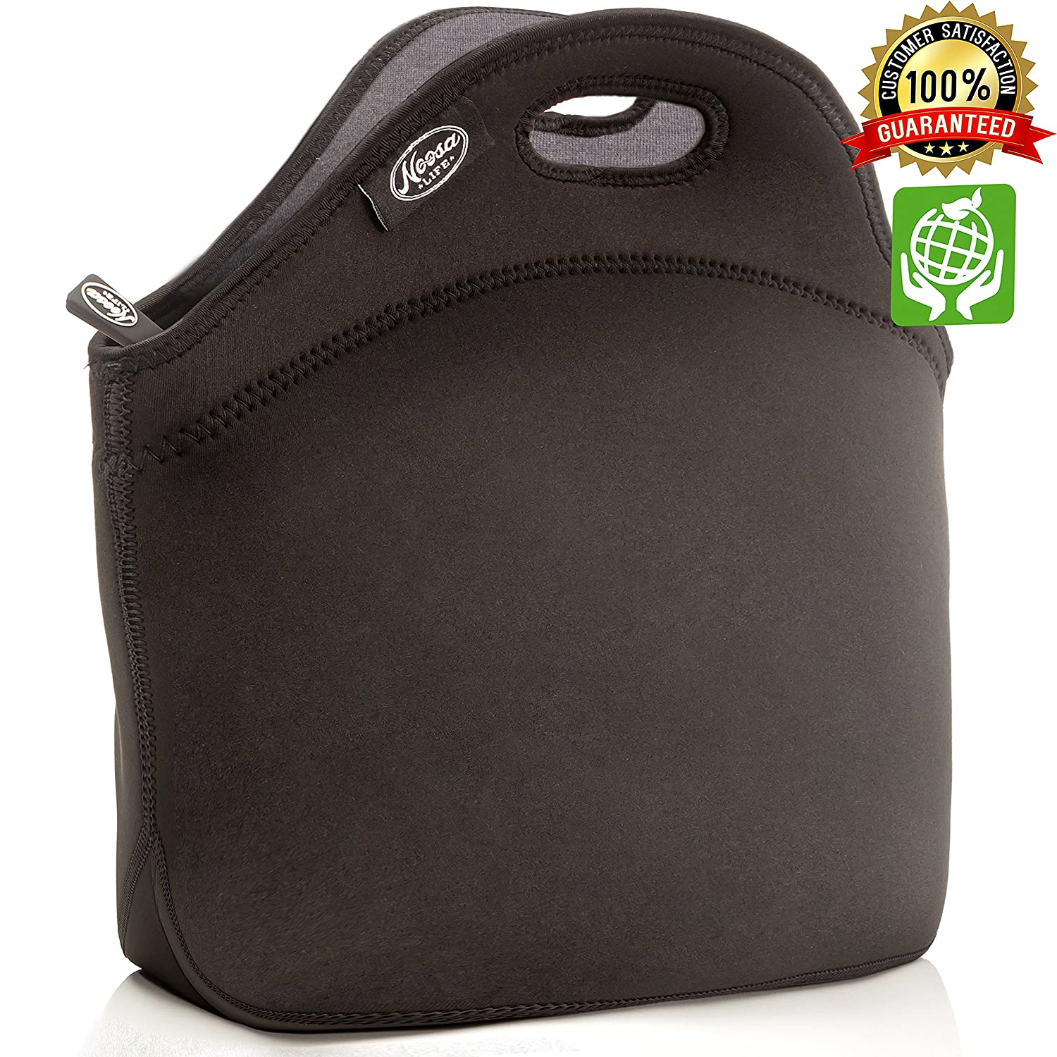 LARGE Neoprene Lunch Bag - Large & Thick Insulated Neoprene Tote