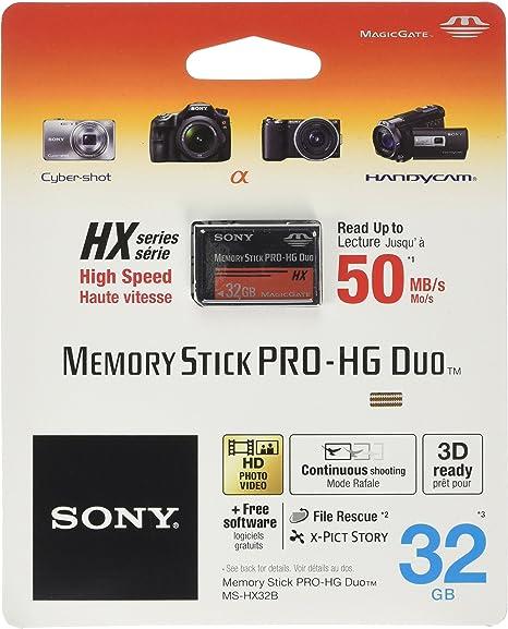Sony MSHX32B - Tarjeta de memoria Sony Memory Stick PRO-HG Duo de ...