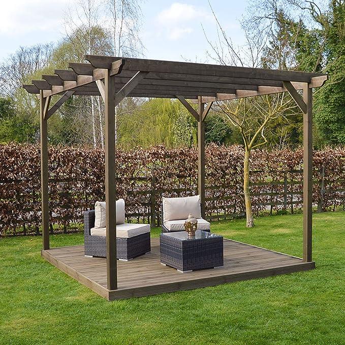 Rutland County Garden Furniture Kit de Pergola de Madera y Cubiertas