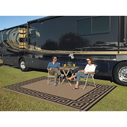 Amazon Com Patio Mats 9 X 12 Reversible Rv Patio Mat Indoor