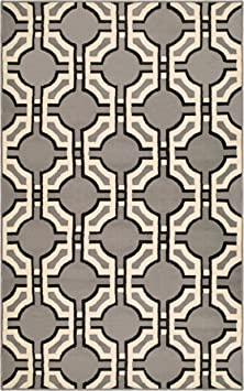 Amazon Com Superior Geometric Pritchard Area Rug Collection 5x8 Furniture Decor