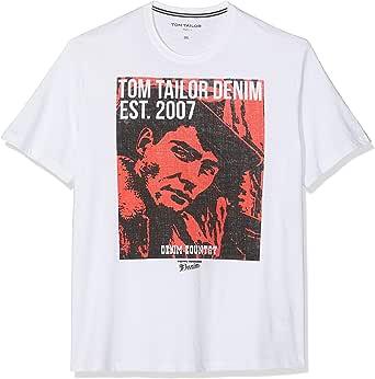 Tom Tailor Denim 1012954 Camiseta, Blanco (White 20000), XXXL para Hombre: Amazon.es: Ropa y accesorios