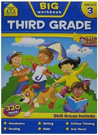 Amazon.com: School Zone Big Workbook, Third Grade: Arts, Crafts ...