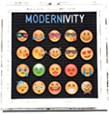 Modernivity Premium High Resolution Emojis – Felt Letter Board Accessories –– 20 Magnetic Display Ready Full Color Emojis + 1 Free Premium Pineapple Emoji – Emoticon ONLY, Letterboard Sold Separately