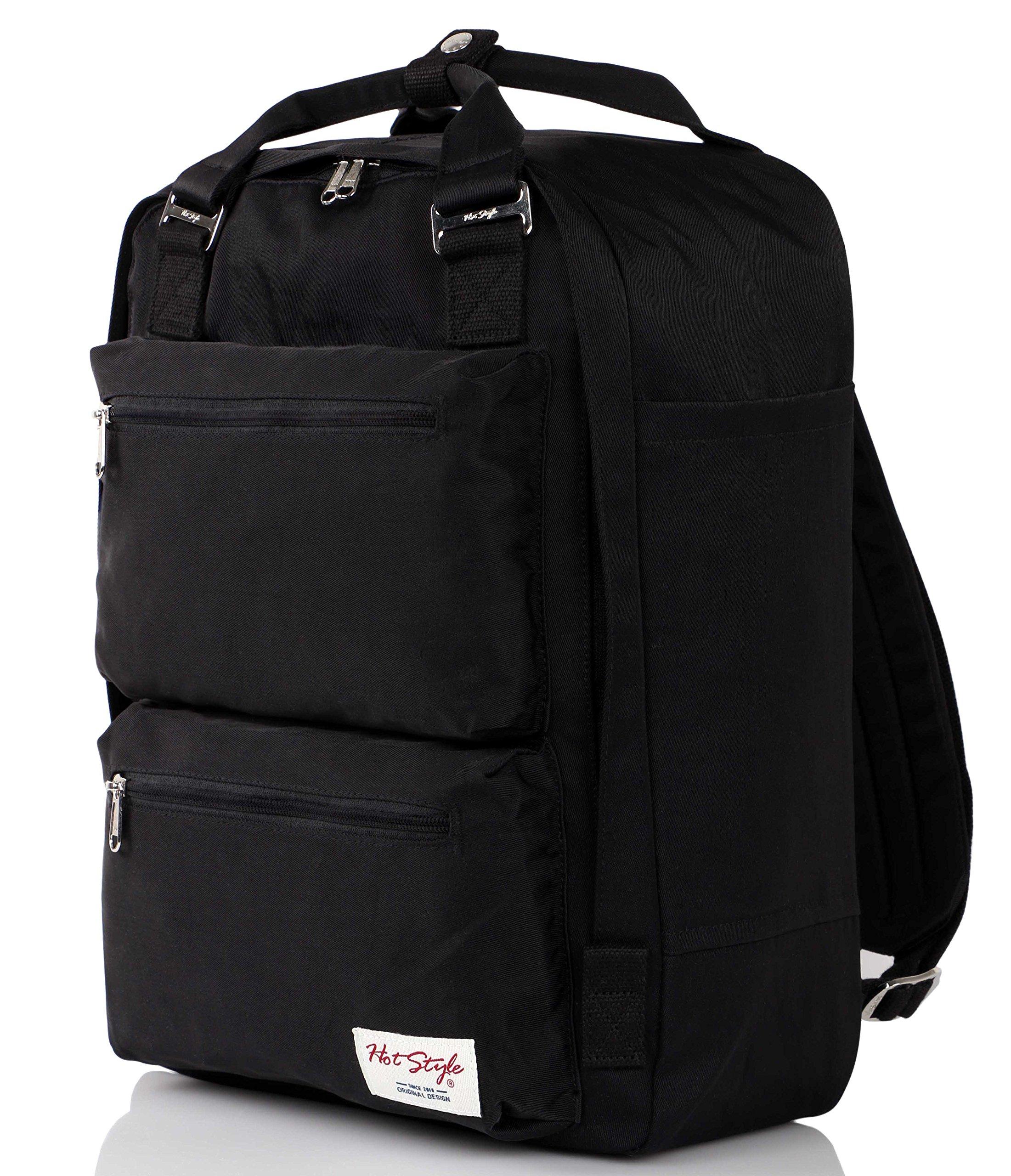 HotStyle DayBreak Waterproof Travel Backpack Handbag holds 15'' Laptop - Black