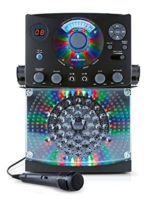 Singing Machine SML385BTBK Top Loading CDG Karaoke System with Sound and Disco Light Show