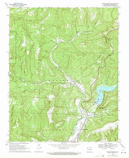 Amazon.com: Arkansas Maps | 1969 Mountainburg, AR USGS Historical ...