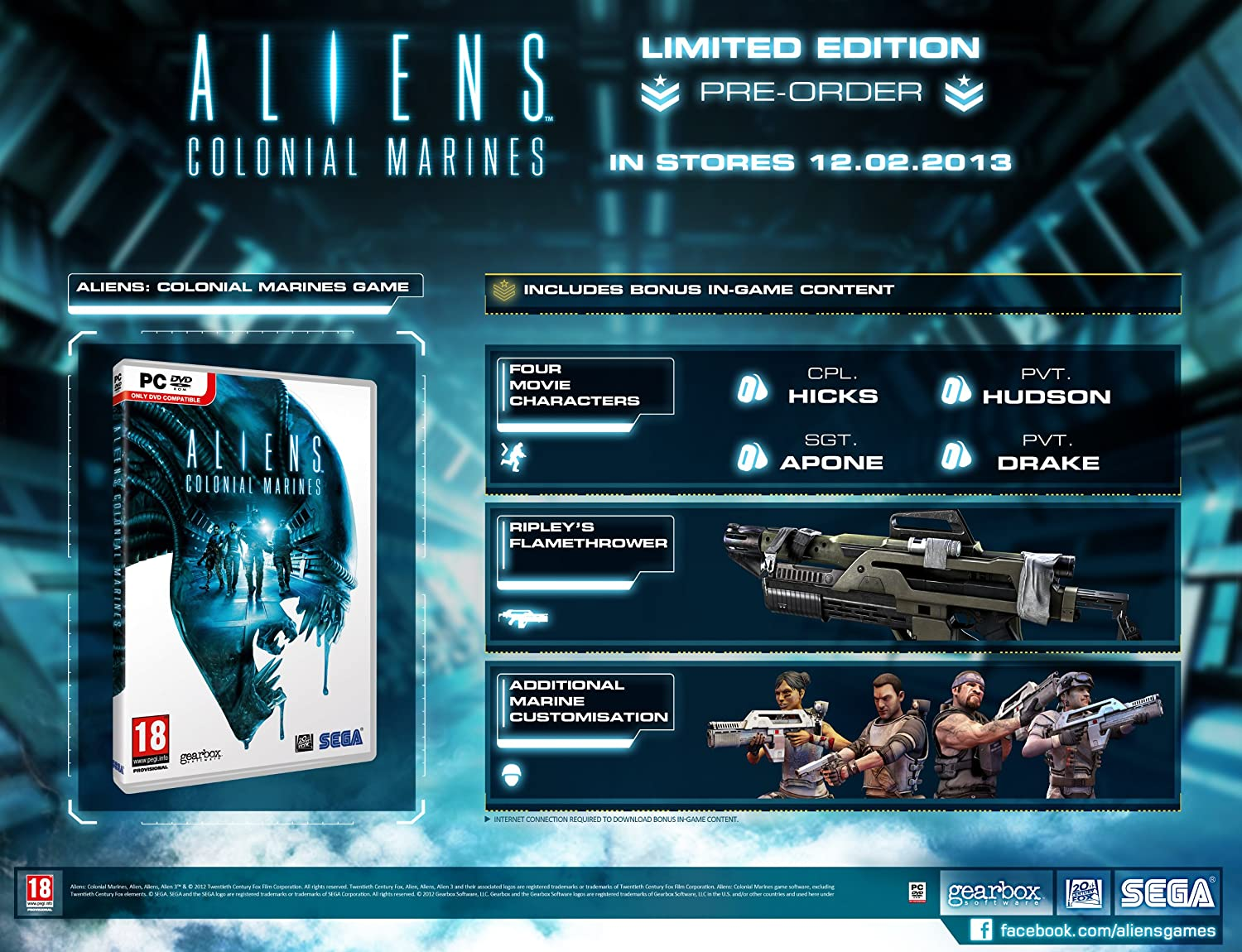 Aliens: Colonial Marines: Limited Edition (PC DVD): Amazon.co.uk: PC &  Video Games