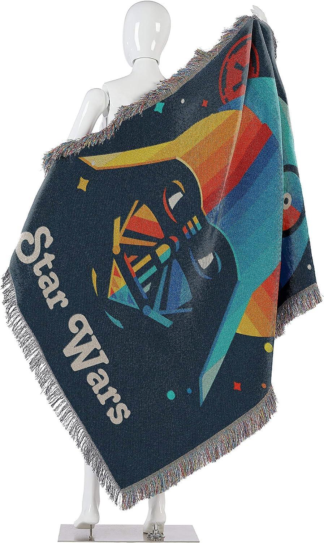 Star Wars Disneys Moonrise Woven Tapestry Throw Blanket 48 x 60 Multi Color