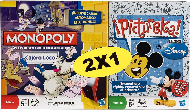Hasbro Juegos en Familia Monopoly Cajero Loco + Pictureka Disney 38315500: Amazon.es: Juguetes y juegos