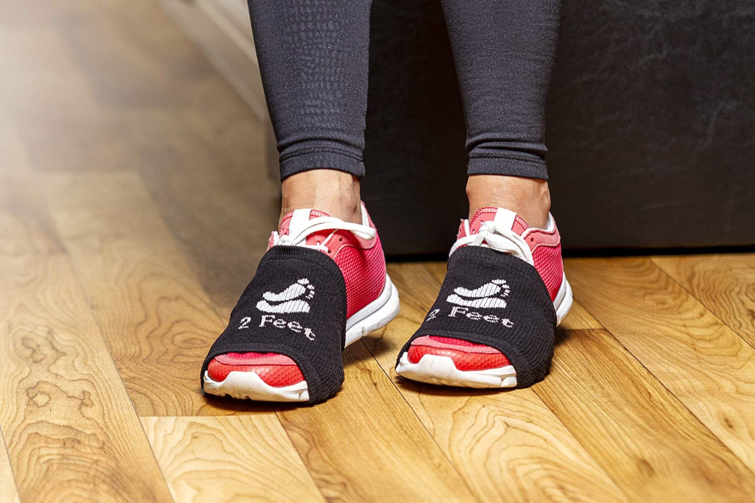 One Black Pair Pack Smooth Pivots /& Turns to Dance with Style on Wood Floors Over Sneakers 2 FEET Sock for Dancing on Smooth Floors Protect Knees