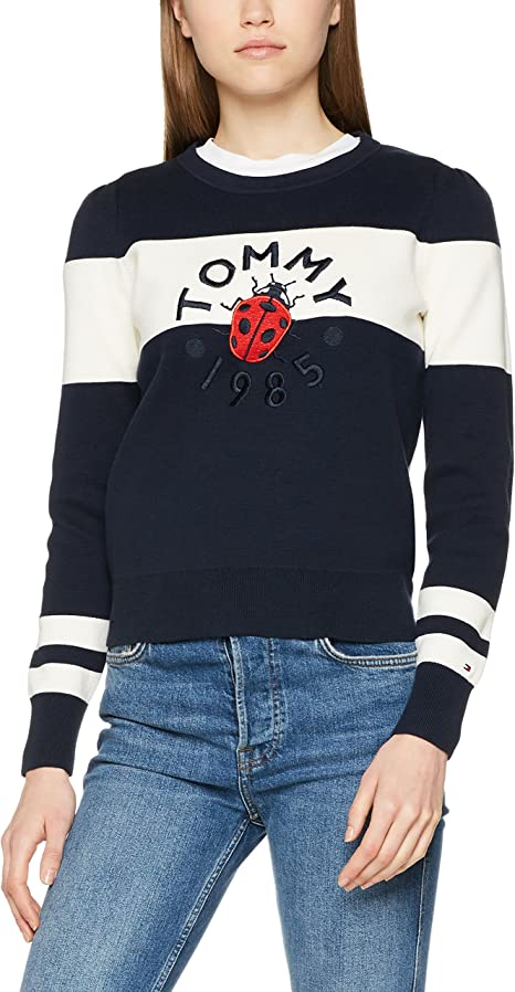 TALLA M. Tommy Hilfiger Pazia Graphic Swtr suéter para Mujer