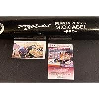 Mick Abel Philadelphia Phillies Autographed Signed Black Baseball Bat Beckett WITNESS COA photo