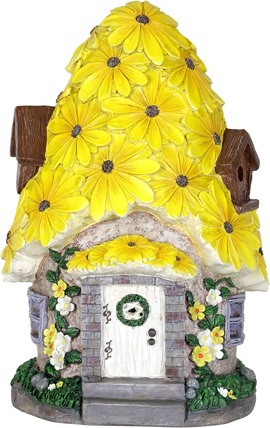 Exhart LED Planter Sunflowers Battery Operated with Timer
