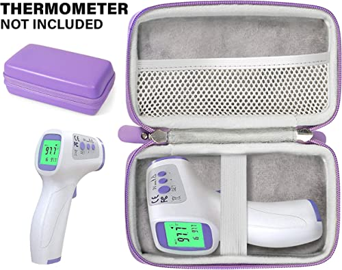 Casesack Forehead Thermometer case for Non-Contact Infrared Digital Thermometer for brands like HIGBRE, ALLIRIER, AFARELY, ROYADVE, REDESS, ICODE, SUNNYPLUS, BrillianceHair, drtulz, mesh pocket for c