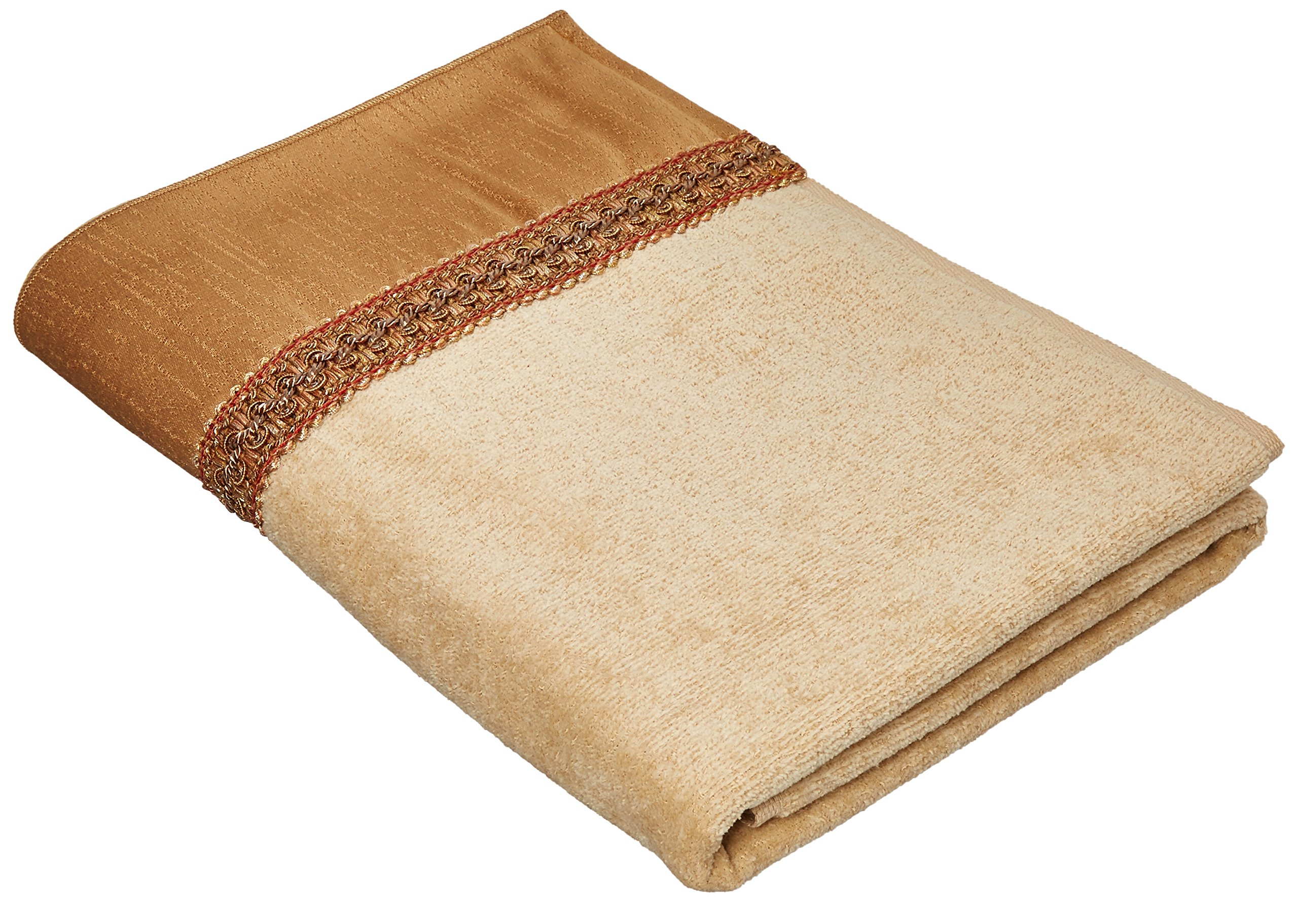 Avanti Braided Cuff Bath Towel - The towels are 100% cotton Fashionable decorative towel Top quality - bathroom-linens, bathroom, bath-towels - 91fLusjzRiL -