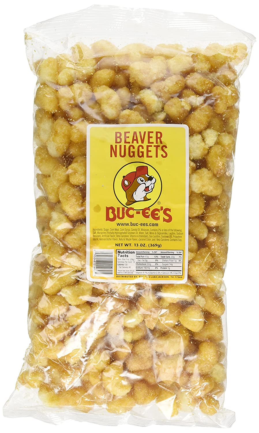Buc-ee's Famous Beaver Nuggets Sweet Corn Puff Snacks Texas Bucees, One 13 Ounce Bag