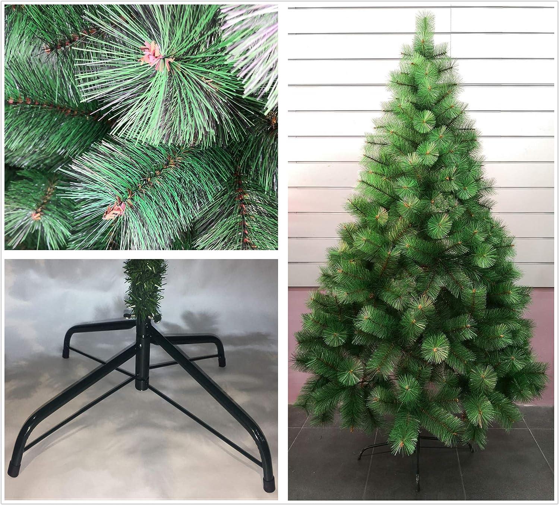 Blanco, 180cm 250Tips /Árbol de Navidad Artificial de Pino con Soporte Met/álico 120cm-210cm