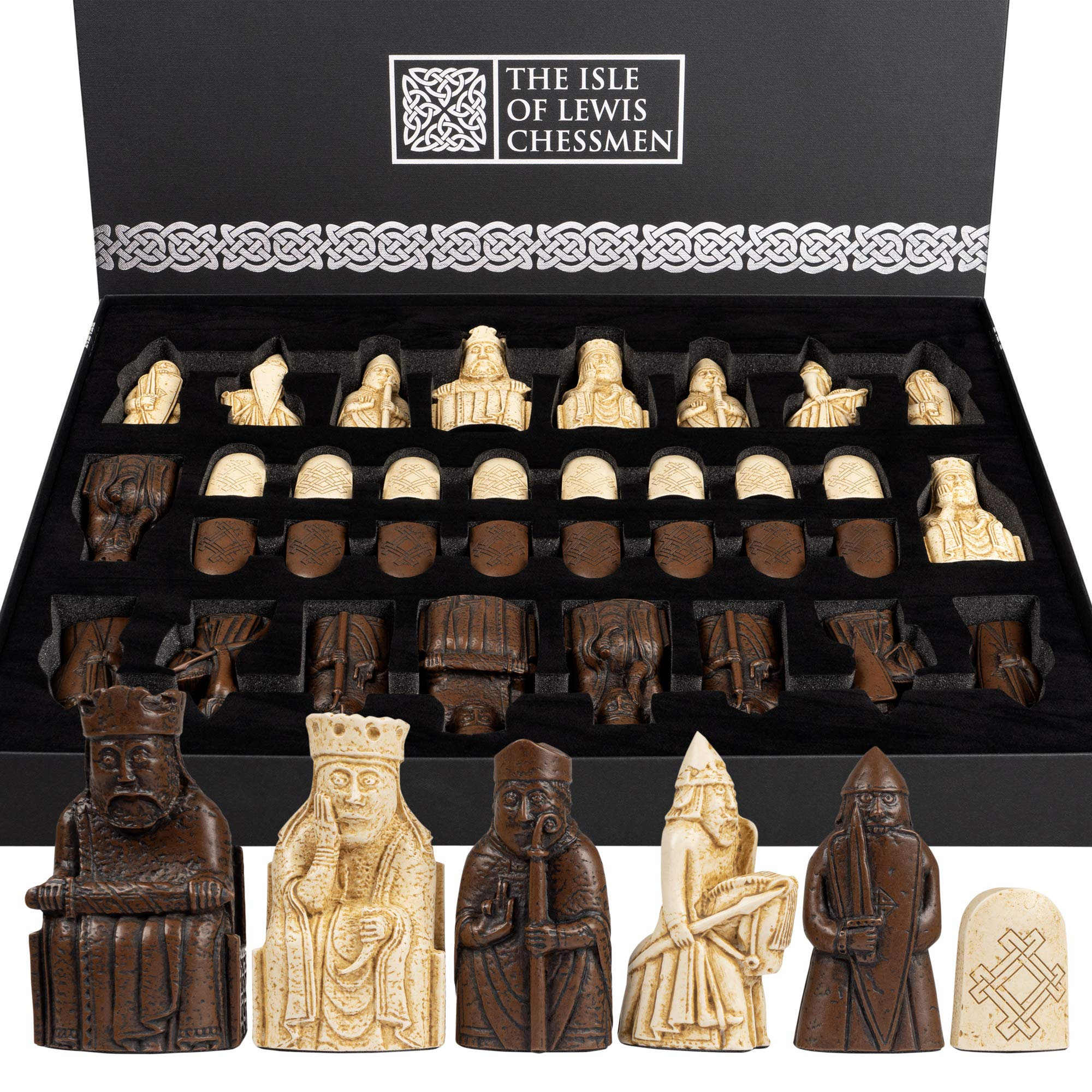 King Replica Chess Piece 10cm Buzz The Lewis Chessmen
