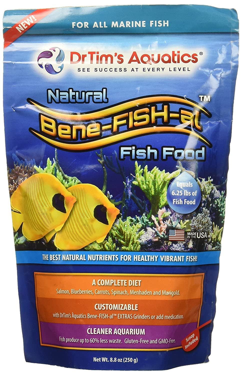 DR. TIM'S AQUATICS 022189 8 oz 1 Piece Bene-Fish-Al Fish Marine Economy Pack Food
