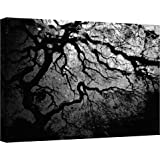 Art Wall Japanese Ying and Yang Tree Gallery Wrapped Canvas by John Black, 30 by 48-Inch