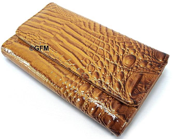 GFM Fashion Ladies Purse: Cocodrilo/cocodrilo patrón cartera en piel sintética, color,
