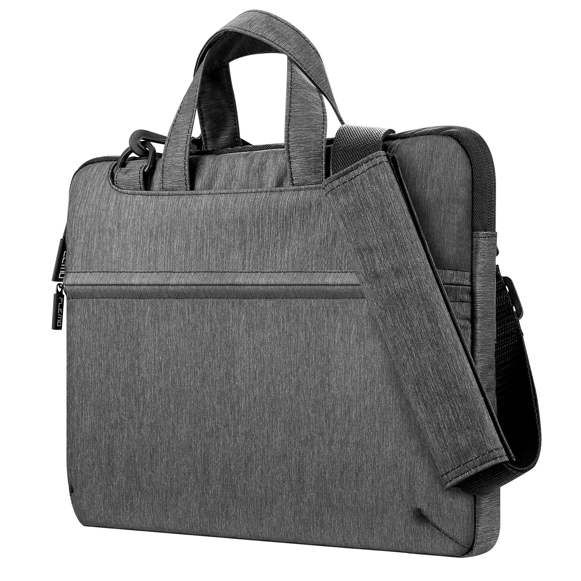 Plemo Wasserfeste Laptop Hülle Tasche Umhängetasche für 13-13,3 Zoll MacBook Pro, MacBook Air, Notebook und Tablet