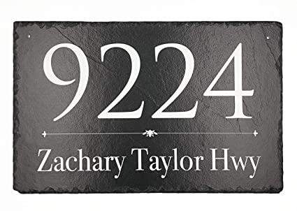 Groovy Beautifully Handcrafted And Customizable Slate Home Address Plaque 16X10 12X6 Or 18X8 Personalized House Sign With And Mounting Hardware Download Free Architecture Designs Boapuretrmadebymaigaardcom