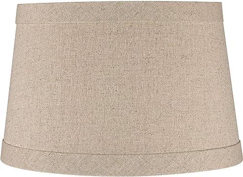 Springcrest8482 Natural Linen Drum Shade 10x12x8 Spider – Springcrest