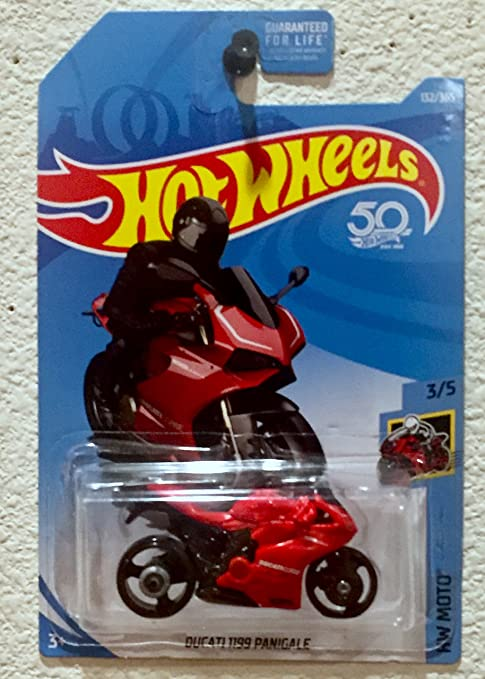 Hot Wheels 2018 50th Anniversary HW Moto Ducati 1199 Panigale (Motorcycle) 132/365, Red