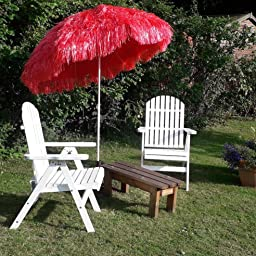 Hawaiian Parasol 160 Cm Beach Parasol Patio Garden Umbrella Sun Shade Tilting Multi Colour Blue Amazon Co Uk Garden Outdoors