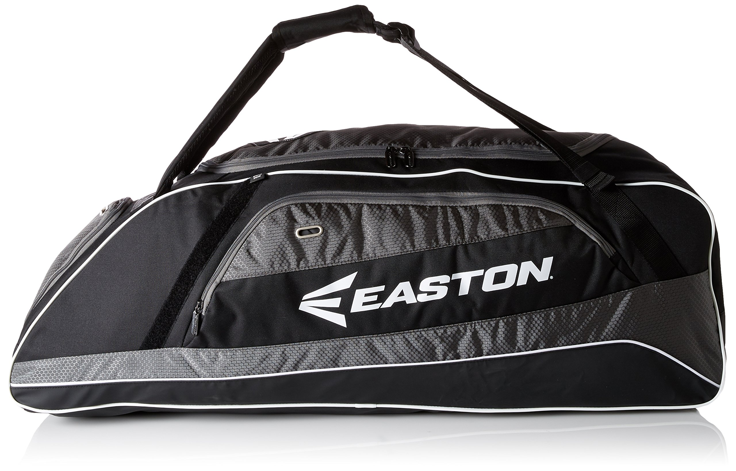 EASTON E500T Bat & Equipment Tote Bag | Baseball Softball | 2019 | Black | 3 Bat Compartment | Vented Pockets | Interior Valuables Pocket | Water Bottle Pocket | Backpack Straps | Fence Hook
