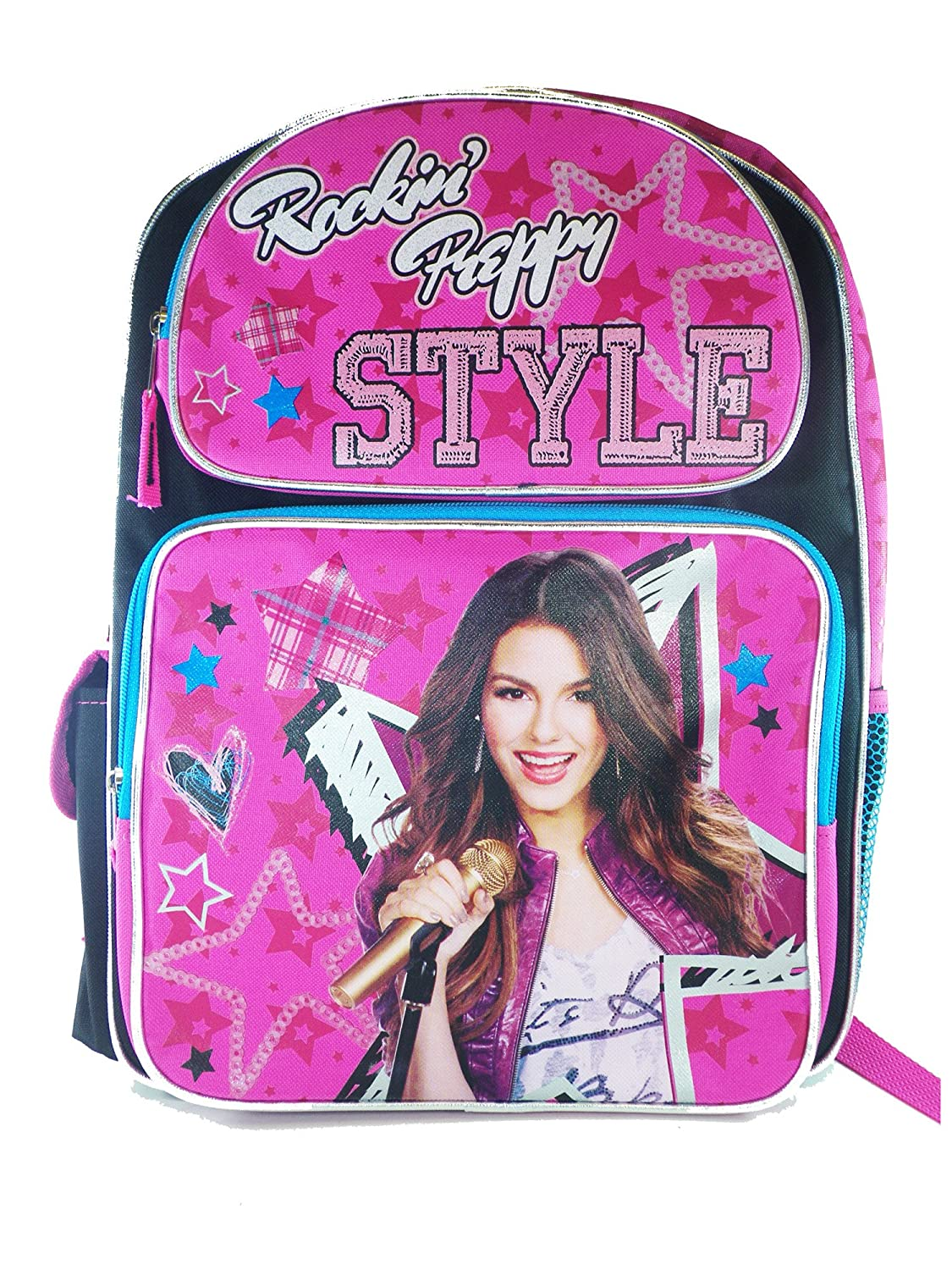 Full Size Rockin' Preppy Style Victorious Backpack - Victoria Justice Backpack free shipping