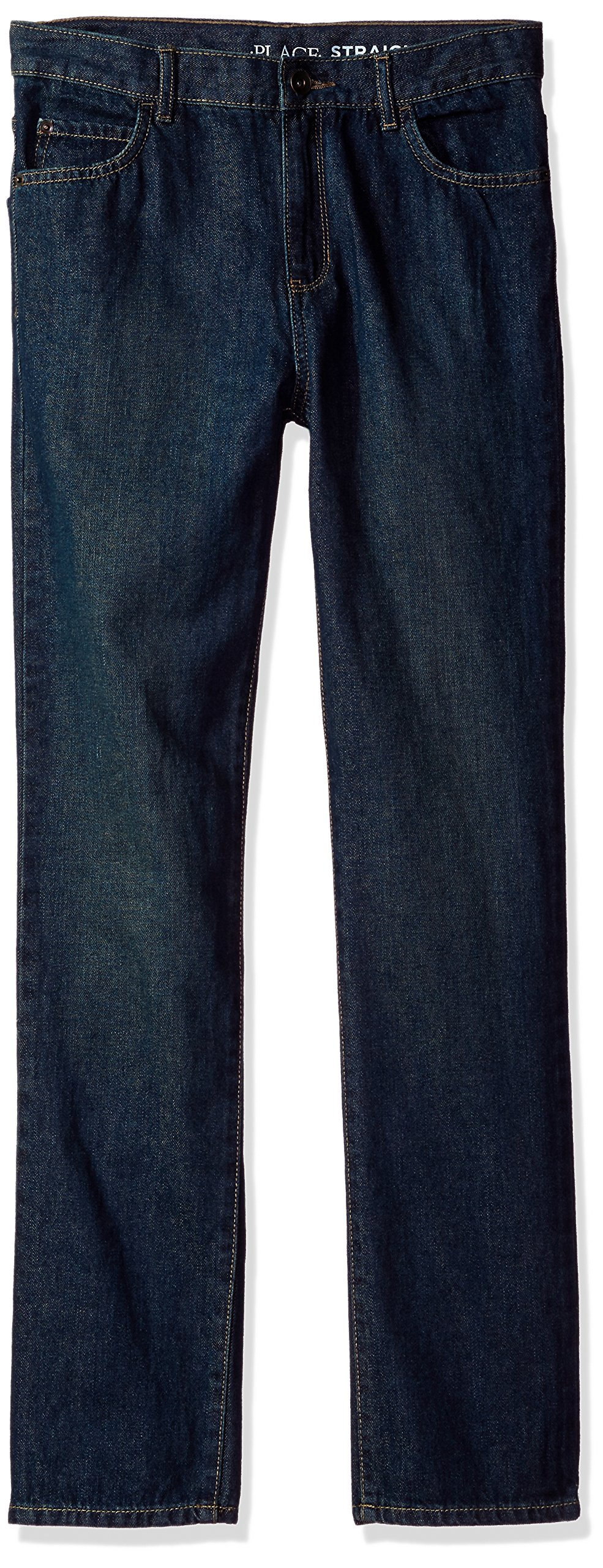 The Children's Place Big Boys' Straight Leg Jeans, Dry Indigo, 16S