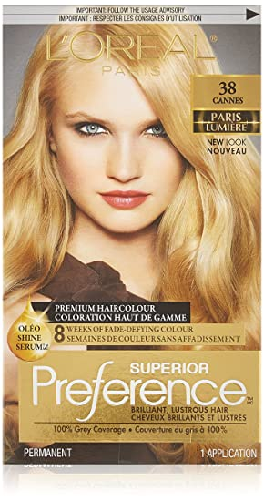 Great Lu0027Oreal Paris Superior Preference Permanent Hair Colour 38 Light Golden  Blonde, ... Amazing Ideas