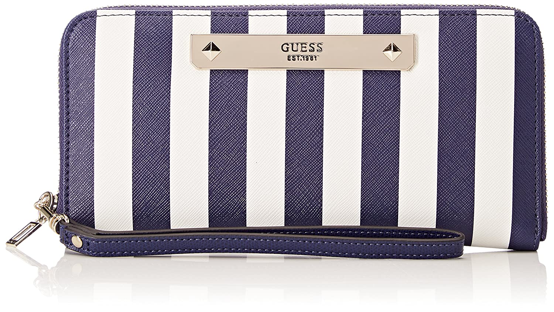 Guess Damen Slg Wallet Geldbörse, Mehrfarbig (Blue Stripe
