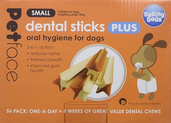 Petface 3-in-1 Dog Dental Sticks, Small, 56-Piece
