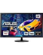 ASUS VP28UQG, 28 Inch 4K (3840 x 2160) Gaming Monitor, 1 ms, DP, HDMI, FreeSync, Low Blue Light, Flicker Free, TUV Certified