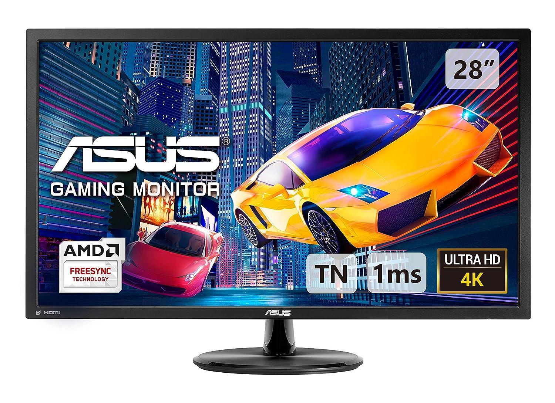 ASUS VP28UQG, 28 Inch 4K (3840x2160) Gaming Monitor, 1 ms, DP, HDMI,  FreeSync, Low Blue Light, Flicker Free, TUV Certified