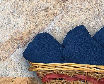 my cotton home Toallas Suaves clásicas de 600 g/m², 100% algodón Egipcio, Navy Blazer, Toalla (70 x 140 cm): Amazon.es: Hogar